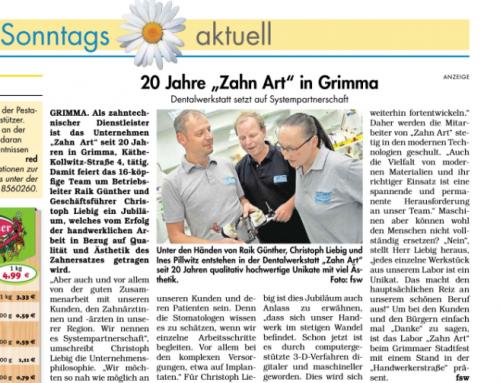 Zahn Art in Grimma feiert 20-jähriges Jubiläum